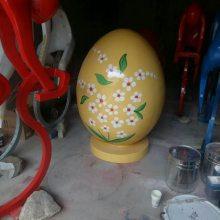 树脂彩蛋模型彩绘鸡蛋道具雕塑复活蛋西方复活节玻璃钢彩蛋圆雕圣诞节泡沫彩色蛋儿童节侏罗纪2复联3摆件