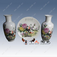 千火陶瓷教师节礼品定制方案 陶瓷花瓶三件套厂家批发