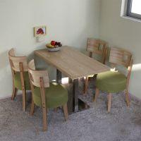 海德利 北欧饭店实木餐桌 铁艺饭桌休闲桌椅酒店桌子餐厅餐桌椅组合