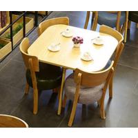 倍斯特日式暖色清新实木方桌创意休闲主题餐厅原木色厂家定制