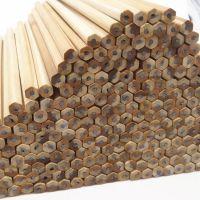 小学生环保无毒六角杆铅笔 儿童原木散装铅笔 写不断易削厂家直销