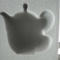 订做高弹EVA包装海绵内胆 红酒玻璃瓶挖孔一体成型植绒内胆
