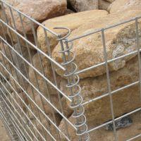 银川河岸堤防固滨笼 河道专用石笼网 包塑格宾网出厂价销售