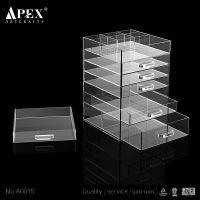 百合隆供应定制时尚 创意亚克力收纳盒,透明多层抽屉式 梳妆台收纳