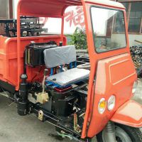 经济实用半封闭自卸柴油三轮车参数 金尔惠技术强化多用途农用三轮车价格
