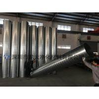 厂家直销 镀锌白铁皮螺旋风管工业排烟风管不锈钢螺旋通风管道