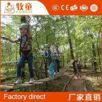 户外儿童乐园素质拓展器材 智勇闯关丛林穿越设备木质吊桥设施
