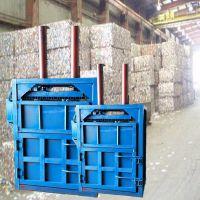 编织袋打包机 多功能启航牌废纸箱吨袋秸秆打包机 双杠60吨袋打块机