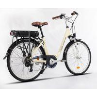 msebike 锂电池助力26英寸成人电动自行车带脚踏成人女式城市单车