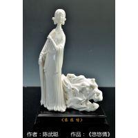 陶瓷传统工艺品 侍女 艺术品 艺术灯
