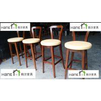 供应上海mangosix咖啡厅桌椅 简约现代实木桌椅 韩尔家具