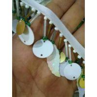 白色圆片树叶亮片吊穗织带花边箱包手袋绳带