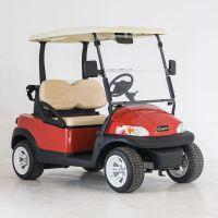 广东卓越电动车厂生产的红色A1S2 两座电动高尔夫球车,球场专用车型