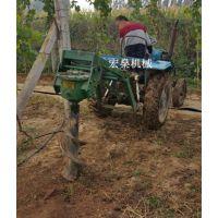 四轮车苗木植树栽树打眼挖坑机机 挖树窝机使用方法