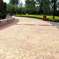 济南章丘鹅软石图案的混凝土压模地坪材料找哪个公司做