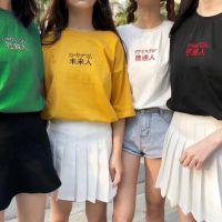 韩版大码女装夏季短袖纯棉T恤学生印花宽松半袖上衣潮批發