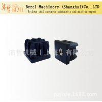 方管脚套BZ-001-L  沛哲机械输送机配件 黑色尼龙管套 塑料配件