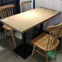 高档西餐厅板材餐桌 咖啡厅茶餐厅主题餐厅简约现代餐桌椅批发
