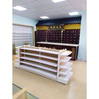青岛药店药品展示架超市便利店母婴店金属货架单面双面中心架高端店面展示柜