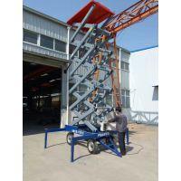 SJY0.3-8m液压升降台 电动固定式铝合金升降机 自立牌 码头专用