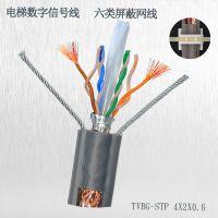国标电梯监控扁电缆 PVC电梯视频专用线 带双钢丝软软高强抗拉