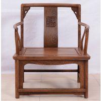 宏森瑞林禅意新中式家具禅椅 打坐椅黑胡桃实木家具明式坐禅椅主人位