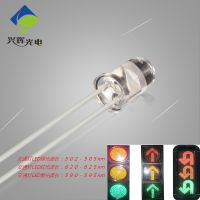 XHUI泰谷交通信号灯灯珠,5MM绿光40度可编带,502-505NM,高亮度交通灯LED