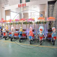 游乐电瓶车 儿童广场机器人蹬车双人电动三轮车电瓶碰碰车厂家
