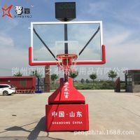 源头工厂 专利 可定制 鹏之泰体育馨赢牌豪华型 电动液压篮球架 无线摇控型 钢化玻璃篮球板