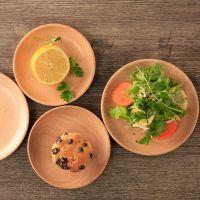 厂家定制批发圆形餐具榉木小托盘点心盘 木制果盘木盘托盘