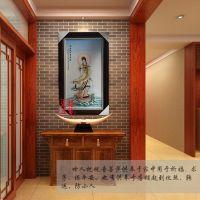 玄关走道走廊背景墙壁画景德镇陶瓷壁画厂家