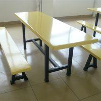 公司饭堂员工餐厅不锈钢桌椅 柏克6人位条凳餐桌
