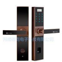 厂家直供德克智能锁DK-S5三合一半导体指纹锁密码电子门锁家用0.5S解锁