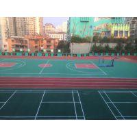 户外硬地丙烯酸球场面层翻新施工篮球场丙烯酸材料地面广州厂家