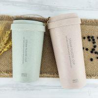 厂家直销便利100天然秸秆塑料水杯双层麦香杯办公咖啡杯批发定制