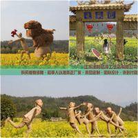 新县田园风情稻草人工艺品生产厂家