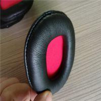 订做环保柔纹蛋白质皮耳机套 热压吸音海绵PU皮头梁护套