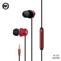 WK潮牌WI300入耳式手机耳机mp3线控有线降噪重低音通用耳塞