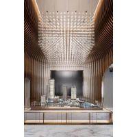 铭星创意led满天星设计师酒店沙盘售楼部中心样板房北欧光立方吊灯