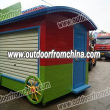 迪士尼乐园售货亭,上海游乐园卡通售货亭,广场售卖车