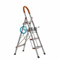 广州创乾CQB-5宽踏梯工厂直销家用折叠梯人字梯扶手铝合金梯