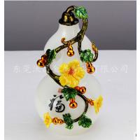金属珐琅彩葫芦花瓶摆件 家居酒店创意陶瓷花瓶礼品定制