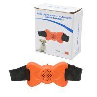 亚马逊热销蝴蝶形状橙色802新款自动声控震动可录音止吠器宠物训狗器