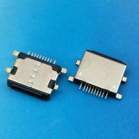 iphone沉板母座 沉板0.8mm 前插后贴10PIN 贴片式SMT 黑色胶芯 --CY科技