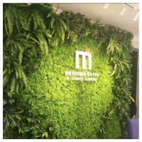 厂家直销 酒店餐厅装饰背景墙绿植仿真植物 尤加利草坪 仿真植物墙 塑料草