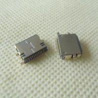 前插后贴10P-SMT苹果母座 iPhone沉板2.4母座 IP7-Lightning母端