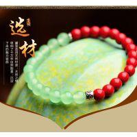 复古风时尚首饰民族风手链女装红饰品绿色手珠珠石头手串首饰