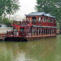 山东贵州16米双层画舫船 水上大型画舫船