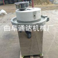 麻汁香油加工设备 通达牌 电动石磨豆浆机 花生酱石磨机 直销