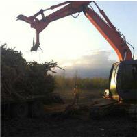 挖掘机抓木器夹木机配件抓铁器多功能挖机前爪子夹子前端设备机